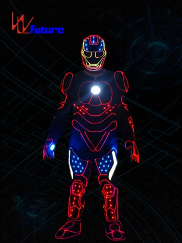 China High Quality Cool Tron Dance Led Iron Man Costume With Led mask