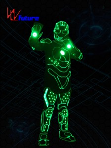 LED Tron Dance Iron Man Costumes with Mask Gloves WL-0239