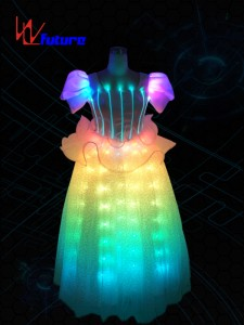 Girls led light up fairy dress costume,LED prom dress WL-041