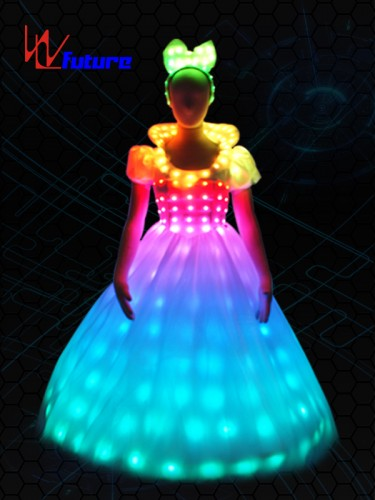 Neon Led Wedding Costume,Princess Led Prom Dress For Party WL-055