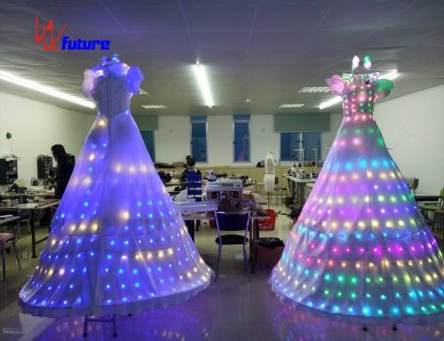 Full color LED Stitls Walker Dresses,LED Costumes For Women WL-055