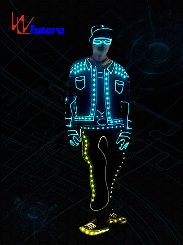 Future wireless control Got Talent Show LED Light tron dance costume WL-0194A Featured Image