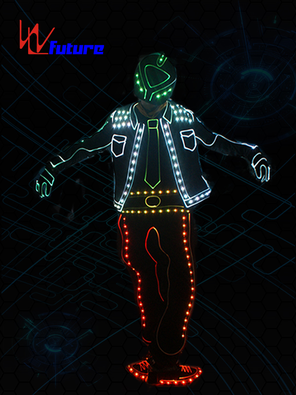 New Style Got talent show wireless controlled LED tron dance costume WL-0194B Featured Image