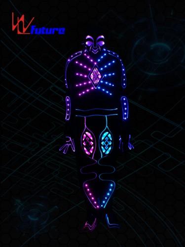 Fashion LED & fiber optic tron dance costume with mask WL-0217