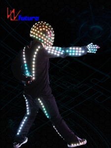 Programmable LED Robot Cosutme with Helmet WL-067