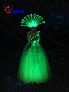 Rainbow LED&Fiber Optic Dress Costumes for performing WL-0174