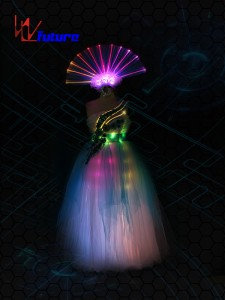 Professional Design Rgb Led Dance Costume,Led Party Costume,Lights Led Dance Costumes
