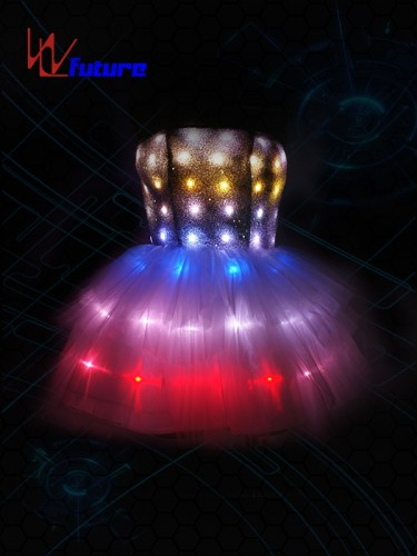 Remote Control LED Light-up Short Skirt for Young Girls WL-0143A