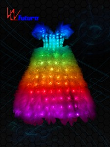 Full color LED Wedding Dress Costume WL-022